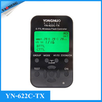 Wholesale Yongnuo YN C TX YN622C TX LCD I TTL Wireless Flash Trigger Controller Transmitter for YN C Transceiver Receiver for Canon