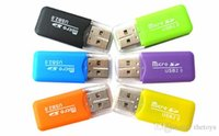 Wholesale 2015 Factory direct High Speed USB Micro SD card T Flash TF M2 Memory Card Reader adapter G G G G G