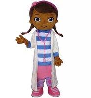 Wholesale Easte Dottie McStuffins mascot costume Doctor McStuffins Mascot Costume doc mcstuffins Adult Size Classic Party Costumes Fancy Dress Suit