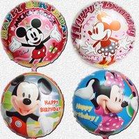 balls themes - 5pcs Inflatable Cartoon Mickey Festa Balls Minnie Theme Party Decorations Balloons Happy Birthday Decorations Foil Balloons