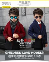 Wholesale Kids Boys winter coat children woolen coat child new wool coat tide cotton five colors drop shipping