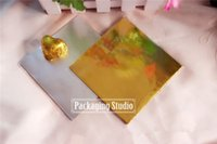 Wholesale 20 cm Gold Aluminium Foil Wrapper Paper Chocolate Paper Candy Wrapping Paper Sheets