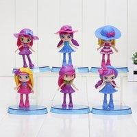 Wholesale 6pcs set cm Little Charmers Hazel Posie Lavender PVC Action Figure Collection Model toys Kids Toys Doll
