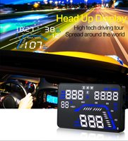 Wholesale Multi color Design Inch Large Screen Display Car Hud Head Up Display Security System Vehicle Over Speed Alarm