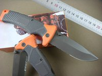 bear scout - Drop shipping Large Size inches GB Bear Survival Series Scout Folding Drop Point Knife Partially serrated blade Outdoor rescue tools