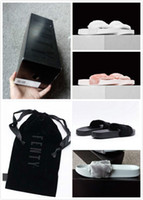 Wholesale With Original Boxes Leadcat Fenty Rihanna Shoes Women Slippers Indoor Sandals Girls Fashion Scuffs Pink Black White Grey Slide