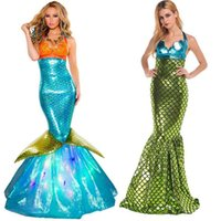 aquarius blue - New Arrive Sexy Adult Womens Ladies Novelty Costume Aquarius Sirena Mermaid Fishtail Fancy Dress Party Halloween Carnival Cosplay Outfit
