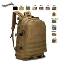 Wholesale Oudoor Sports Waterproof Tactical Pack Bag Rucksack Knapsack Assault Combat Military Camouflage Tactical Molle D Backpack SO11