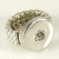 al por mayor botón anillo de metal-10 Diseño para elegir DIY Snaps Button Joyas de metal encaje el anillo para los botones de ajuste Ajustar 18 / 20mm botones de botones de Snap de Partnerbeads KB3314