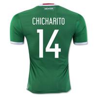 Wholesale Customized Thai Mexico Home Green CHICHARITO Soccer Jersey Shirts Football Jerseys Tops Shirts Hot Mexico CHICHARITO