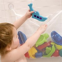 bath bag for toys - Baby Bathroom Mesh Bag Folding Eco Friendly Bath Toy Storage Bag for Kids Children Net Suction Cup Baskets