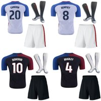 Wholesale 2016 USA the full set soccer jersey with socks America CAMERON DEMPSEY home and away football jersey with socks