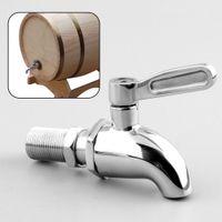 barrel drink dispenser - 2015 Stainless steel Silver Drink Dispenser Spigot Tap Faucet for Wine Barrel Beverage