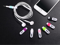 Wholesale ECO friendly Candy Color Data Cable Protector Cord Saver Winder Cover For Apple iphone Earphone all kinds of earphone