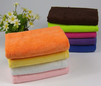 bamboo wash cloths - Wood fiber bamboo cloth not contaminated oil washing towels kitchen towel microfiber cleaning cloth torchons de cuisine A34