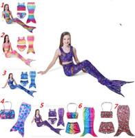 animal fin - Kids Mermaid Tail Swimmable Bikini Set Girl Mermaid Swimwear Baby Mermaid Tail Fin Swimsuit Mermaid Swimming Costumes Bathing Suit