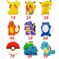 Wholesale 2016 Poke Pikachu Charizard Silicone Luggage Tag Travel Suitcase Tag Cute Cartoon Luggage Identification Boarding Pass Checked Label XL P97