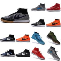 Wholesale Children Shoes Magista Football Boots MagistaX Proximo Street IC TF Indoor Soccer Cleats Turf High Ankle Boots Chuteira Futebol Society