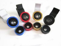 Wholesale Mobile Phone Universal in Clip Fish Eye Wide Angle Macro Lens kit For iPhone Samsung HTC Etc