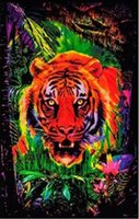 bedroom designing games - 24X36 INCH ART SILK POSTER Opticz Jungle Tiger Blacklight Reactive Poster Game Poster Movie Poster Print