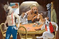 bb art - Dogs Playing Poker Winner Takes All By Arthur Sarnoff Genuine Handpainted Art oil Painting On Canvas Museum Quality customized size bb