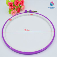 Wholesale 2016 new zakka inc cm high quality circular hoops embroidery tool with colored choice as DIY accessories