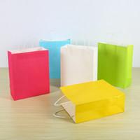 Wholesale 21 cm kraft paper bags gift bags garment bags hand bags
