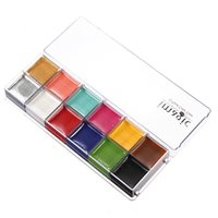 Wholesale 1 Set Flash Tattoo Colors Face Body Paint Oil Painting Art Make Up Halloween Party Fancy Dress Makeup Tools