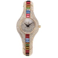 replicas - Hot Sale High Quality Watch Fashion Generous Bling Color Rhinestone Stainless Steel Replicas Watches online Muslim
