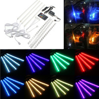 Wholesale Universal Car Interior Lighting Strip Atmosphere Lamp RGB Colorful SMD Led Lights with Remote Control CLT_204