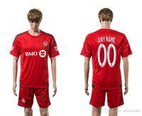 Wholesale toronto FC soccer jersey football uniform home away kit men kits man jerseys uniforms men set red sets