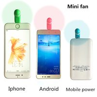 Wholesale Portable USB Mini Fan For iphone s s s plus S3 S4 S5 Android Phone Micro USB Mobile Phone