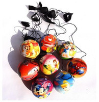 Unisex ball return - Cartoon Finger Bouncing Elastic PU Ball Kids Children Classic Toys Come Back Return Balls