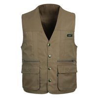 bamboo photography - New Men s Multi pocket Vest Shooting Photography Canvas Vest Waistcoat Photographer