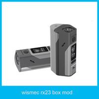 Cheap 2016 Wismec Reuleaux RX23 Mod 200w RX23 box mod fit 2 or 3 18650 cells with rx23 battery cover Reuleaux RX2 3 vape mod