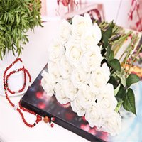 Wholesale Bridal Wedding Bouquet Real Touch Pu Calla Lily Flower Home Wedding Hotel Party Event Christmas Gift Decoration