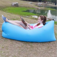 beach folding chairs - 2016 hot selling portable folded inflatable hangout fast inflatable sleeping bag inflatable lazy air bed beach air sofa chair