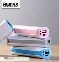 Wholesale Remax mAh Universal powerbank Mini portable battery backup external power for iPhone Samsung HTC Sony huawei