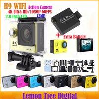 Wholesale Action Camera Eken H9 K Ultra HD P fps WiFi Helmet Cam Underwater Waterproof Gopro Hero Style Batteries