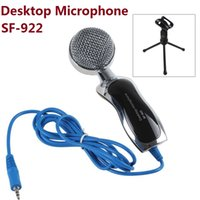 arrival laptop stand - 2016 Direct Selling Microfono New Arrival Fashion Mini Microphone Sf Handheld Desktop Wired with Tripod Stand Holder for Pc Laptop