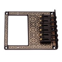 Wholesale Pack Square Saddle Bridge Black for Tele Humbucker with Pattern Replacement