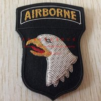 advanced work - Spot Gold Imports Of Advanced Three dimensional Embroidery America Airborne Division Armband Badge cm Roaring Eagle