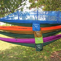 Wholesale Sales Travel Kits Promotion Hammock Mosquito Net Double Hammock Stitching Color Lightweight Military Camping Mat