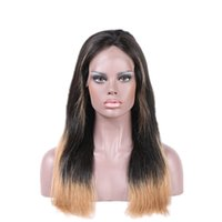 bank stars - Ombre Virgin Human Hair Wigs High Quality Long Natural Brazilian Straight Stars Hairstyle Lace Front Wigs Full Lace Wigs Cheap