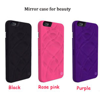apple cosmetic case - new arrival iFrogz Mirror Cases Multi Function Card Slot Holder PC Wallet Pouch Case Girls Cosmetic Mirror Cover for iphone S plus