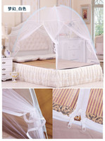 Wholesale mosquito net Chinese Olympic athletes only Mosquito nets folding scaffold student zipper bottomed m bed