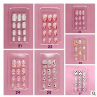 Wholesale Hot Sales In A Box As A Sets Full Nail French Tips Natural Finger False Fake Art Cover Manicure