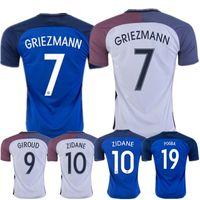 Wholesale Thai Quality EURO Franced jersey Home Away Maillot De Foot Football Shirt Franced Soccer Jerseys