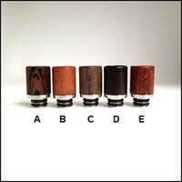 Wholesale Hot Saling Drip Tips Mouthpiece cute beautiful grain style wood material drip tip fit e cig