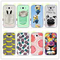 Cheap Wholesale-Fruit Art Print Painting Cat Minions Banana Prefect Case For Samsung Galaxy Grand Neo Plus I9060 i9060i&Grand Duos i9082 Cover